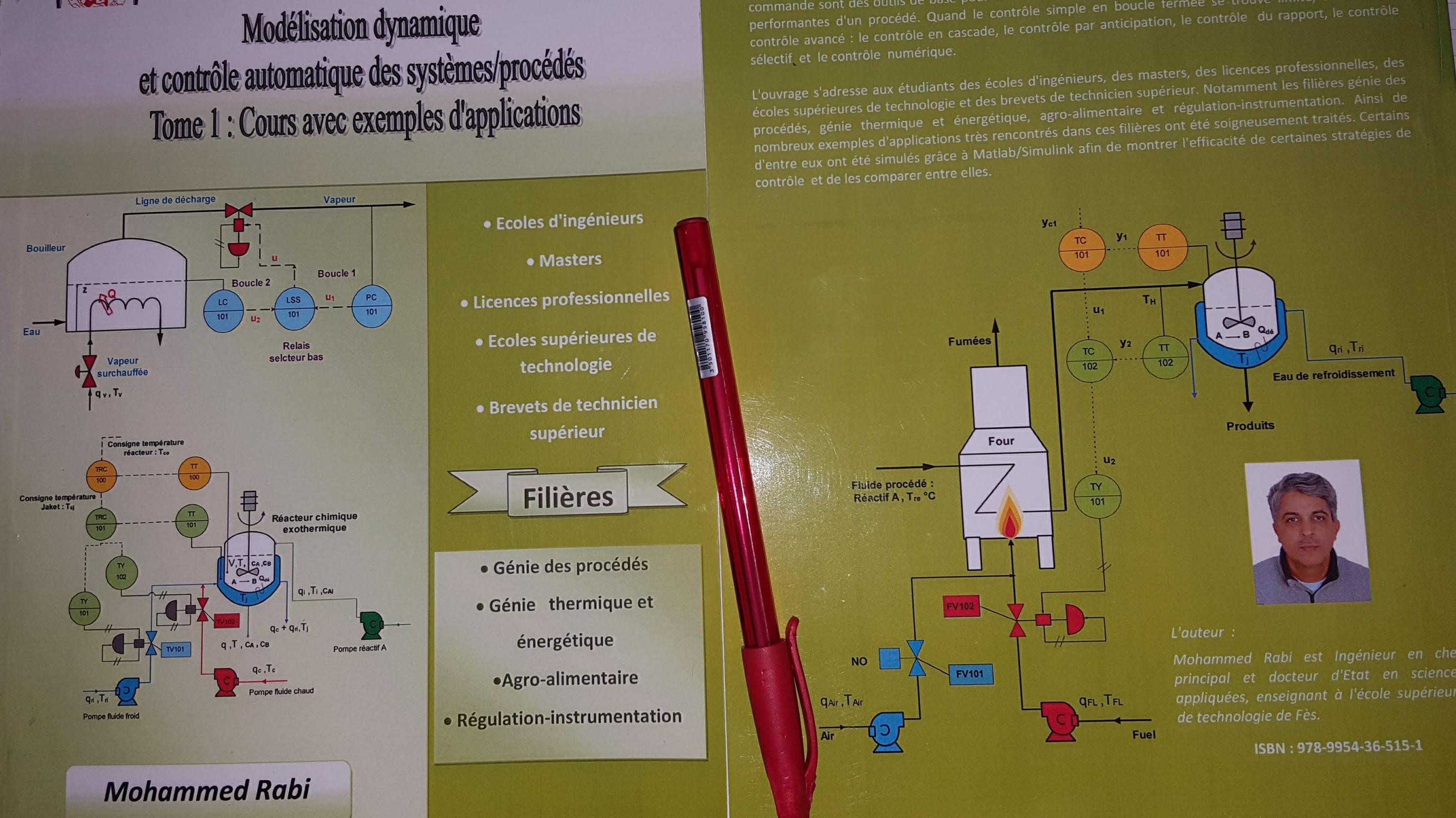 Modélisation dynamique et contrôle automatique des systèmes/procédés Filière AGB